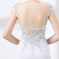 Wholesale luxury long mermaid beaded evening dress for wedding
