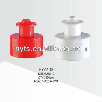 28/410 plastic pull up cap