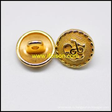 Золотой цвет Unifrom хвостовик кнопка
