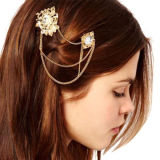 Double Hair Clips, Decorated with Rhinestones, Gothic Style, Customized Designs AcceptedNew