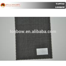 Micro check mens traje telas tela de lana pura