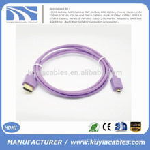 Kuyia Brand Hot sell beautiful 1.4v Micro HDMI à HDMI Câble mâle à mâle