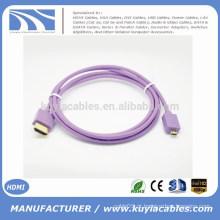Marca quente de Kuyia 1.4V bonito micro HDMI a HDMI macho ao cabo masculino