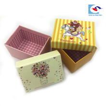 custom made small flower paper gift box packaging