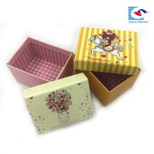 custom made small flower paper gift box packaging