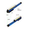 250 Lumens Tocha Trabalho Luz Magnetic Pocket Clip Camping COB Pen Light