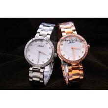 Relógios de pulso de aço inoxidável do metal da qualidade para senhoras