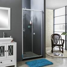Chrom Scharnier Bifold Tür Duschraum mit 5mmTemperedGlass