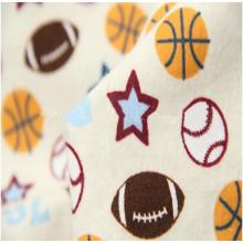 Tela de la franela del algodón de la impresión del nuevo diseño del top 10 para el lecho del invierno