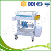 Erste Hilfe ABS Medical Equipment Trolley mit Schubladen und IV Pole
