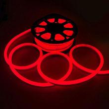 Luz de corda de néon flexível LED vermelho ao ar livre