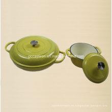 Juego de utensilios de cocina de hierro fundido de esmalte 2PCS