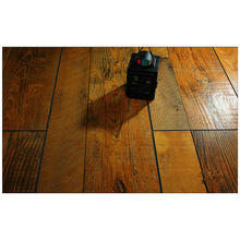 12.3mm Hand geschabter Ahornwasserbeständiger lamellierter Fußboden