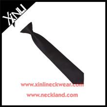 Gros Mens pas cher polyester noir Clip sur cravate