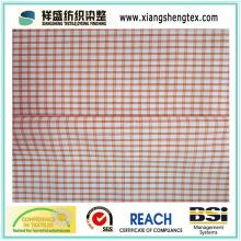 100% tecido de algodão com verificação / tecido puro xadrez de algodão