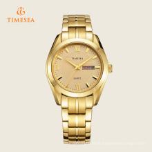Moda de aço inoxidável relógio de quartzo 72325