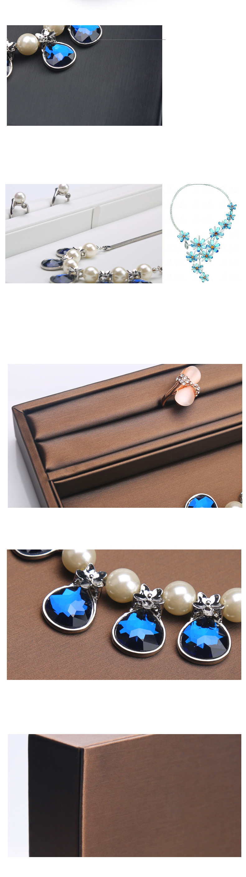 Leather Ornaments Jewelry Display Tray