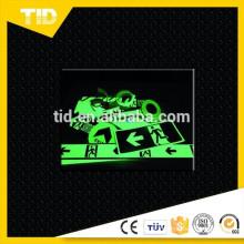 vinil brilho-no-escuro (brilha verde), filme luminescente da foto