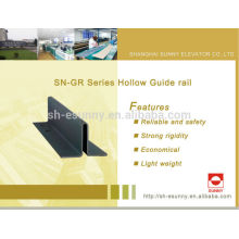 Steel guide rail and accessories for KONE elevator (hollow)
