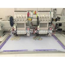 Machine de broderie industrielle ORDER 2 Head 9/12 couleurs pour capuchon, T-shirt broderie --TOP Wisdom