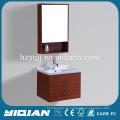 China Brown Holz Badezimmer Vanity Wand montiert Eiche Bad Waschbecken Vanity