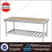 China Standard Worktable Heavy Duty SS201/304 Wooden Work Bench