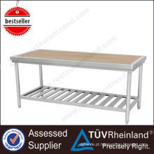 China Standard Worktable Heavy Duty SS201 / 304 Banco de trabalho de madeira