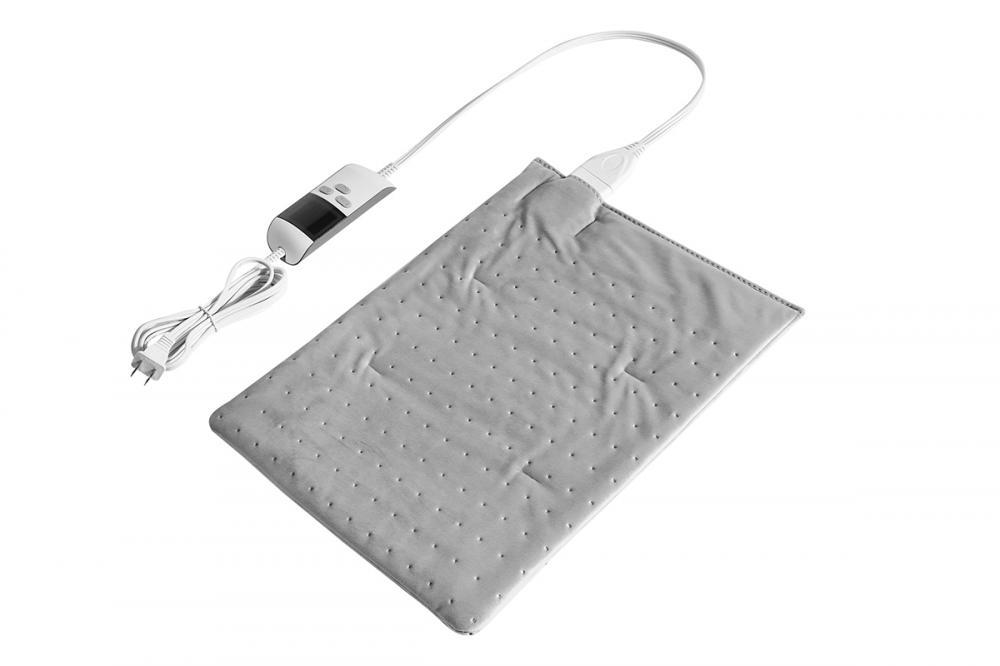 "UL Approved Moist Regular Size Heating Pad Light Grey 12""X15"" With Auto Shut Off"