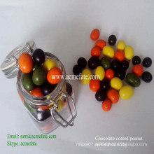 Cacahuete cubierto de chocolate con color natural
