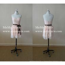 Светло-розовый милая платье невесты милая короткие платье с Sash лук до 14015