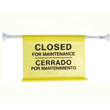 High Quality Maintenance Warning Flag Hanging Safety Sign Closed For Cleaning