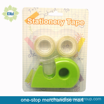 3PCS stationery tapes with 1pc tape dispenser set