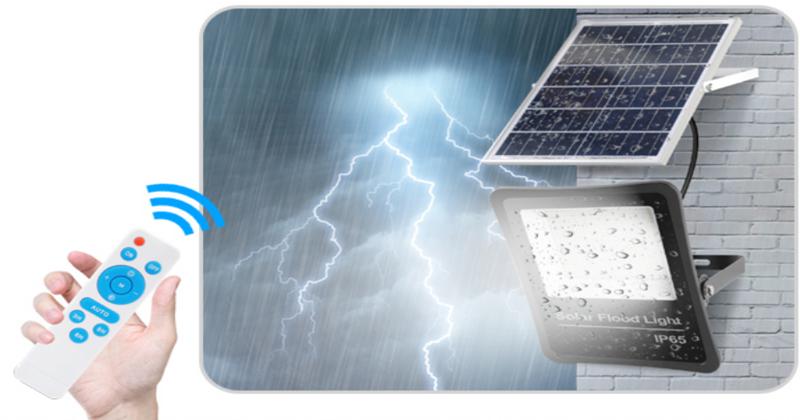 400W solar floodlight controlled by remote control
