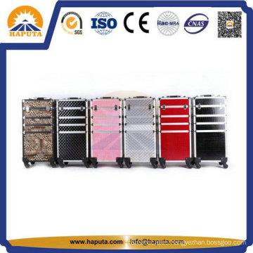 Fashionable Aluminium Rolling Cosmetic Makeup Case