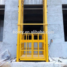 fixed chain lead rail hydraulic cargo lift platform