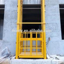 plataforma do elevador da carga hidráulica do trilho da ligação da corrente fixa