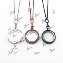 Custom Coffee/Black/Chrome/Chocolate Color Stainless Steel Chain Lockets Sets (CLS60104)