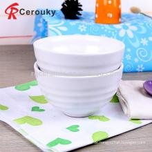Fördernde handgemachte keramische Steinzeug weiße keramische Schüssel