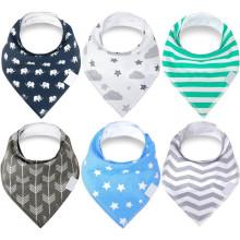 Teething baby drool cotton bibs baby bandana bibs