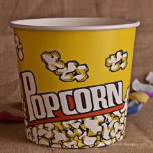 Copo de Pipoca de Papel Personalizado ou Balde para Cinema