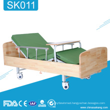 SK011 2-Function Hospital Wooden Manual Nursing Home Care Bed