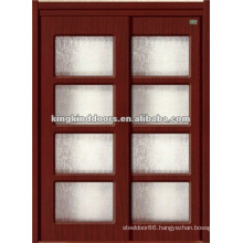 Double MDF Door JKD-8099 With Ground Glass MDF Door with PVC Finish