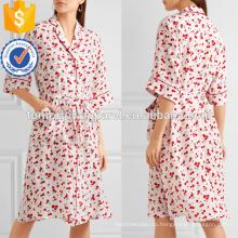Новый стиль печатных шелковое три четверти длины рукава-Миди, летние ежедневные платья Производство Оптовая продажа женской одежды (TA0029D)