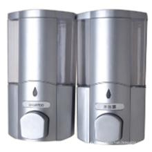 Dispensador de jabón doble montado en la pared plástico blanco confiable de 400ml * 2