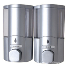 Надежное 400мл*2 Белый пластиковый настенный двойной дозатор мыла