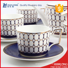 Blue Triumphal Arch Design Coffee and Tea Sets / Splendid Afternoon Coffee Set