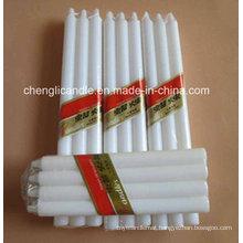 Large Long Burning Non Drip White Candles