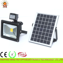 Outdoor 10W IP 65 Solar Powered LED Flood Light with PIR Sensor