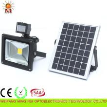 Projector posto solar exterior do diodo emissor de luz do IP 65 de 10W com sensor de PIR