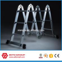 Fabricación de aluminio barato, escalera de paso EN131, escalera plegable de aluminio